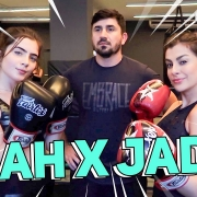 PRIMEIRA VEZ lutando Muay Thai feat. Jade Picon