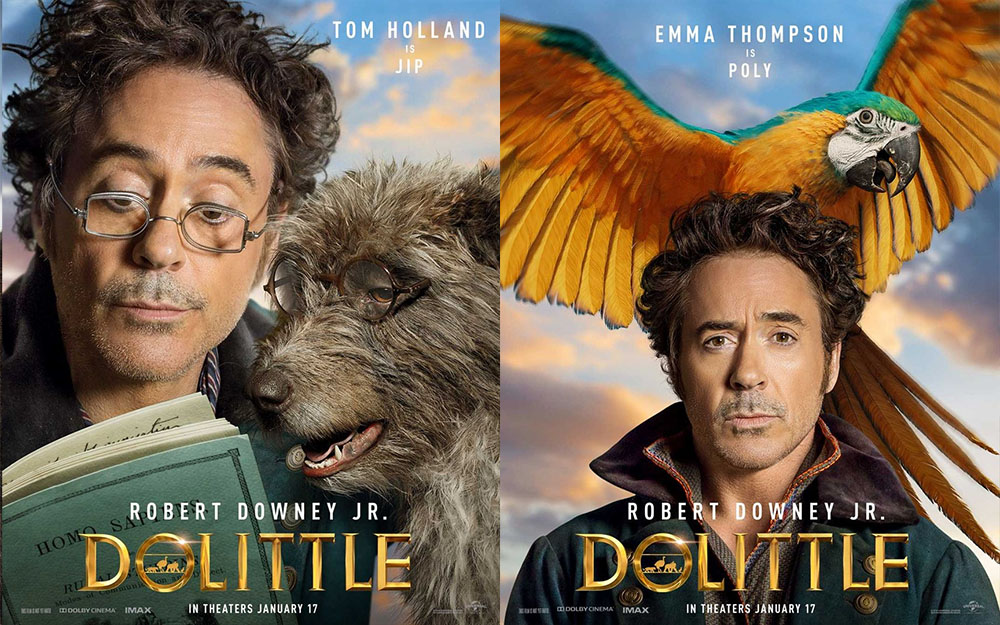 Robert Downey Jr. elenco divulgam cartazes do novo filme Dolittle!